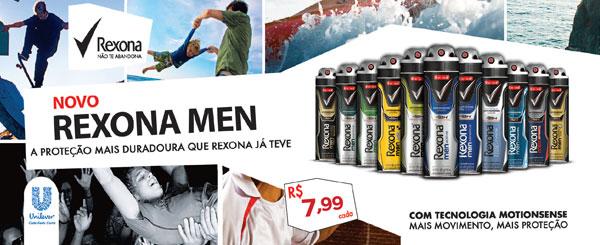 Novo Rexona Men - A proteção mais duradoura que Rexona já teve - R$ 7,99 cada