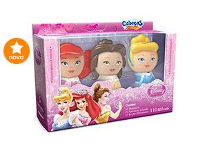 Kit Princesas 3D com Shampoo + Sabonete Líquido + Loção Hidratante