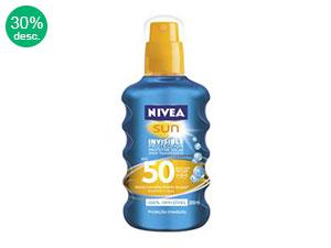 Bloqueador Nivea Invisible Protection FPS50 200ml Spray Transparente